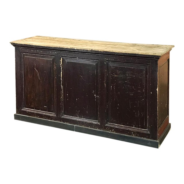 19th Century Rustic County French Store Counter For Sale