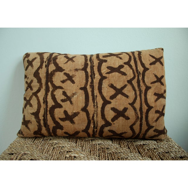 Vintage African Mudcloth Throw Pillows - Set of 3 - Image 4 of 5