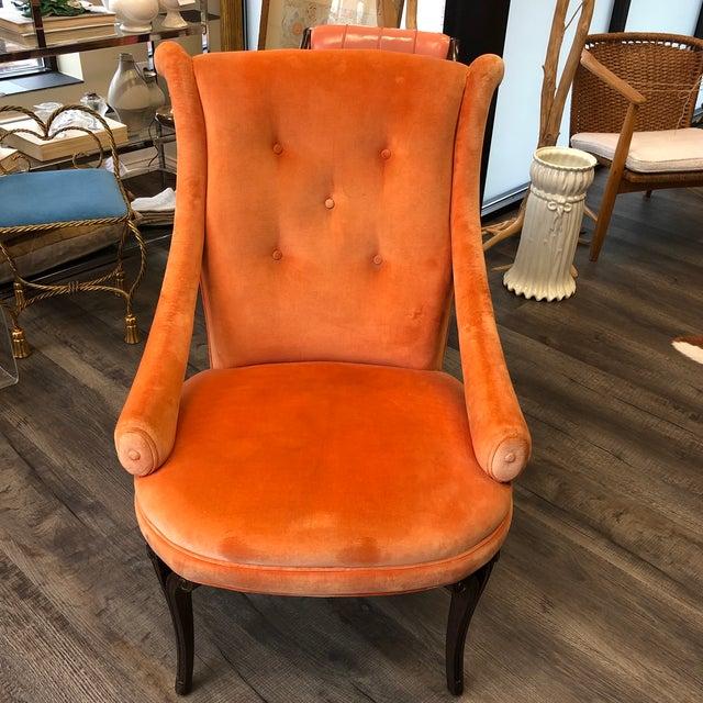 1940's Grosfeld House Orange Lounge Chair For Sale - Image 10 of 10