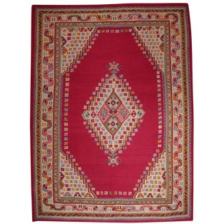 Fantastic Antique Oushak Kilim For Sale