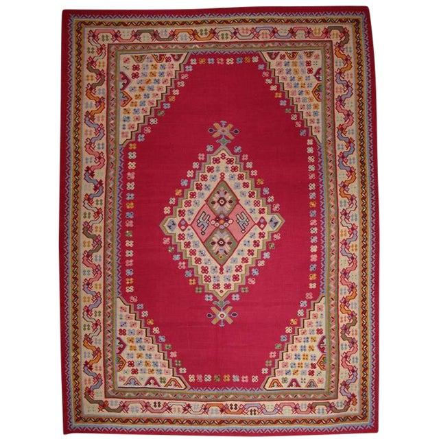 Fantastic Antique Oushak Kilim For Sale