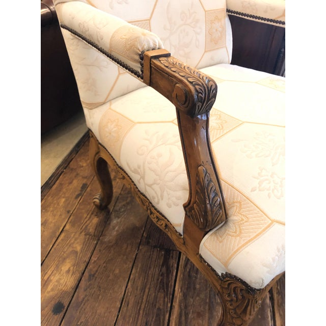 2000 - 2009 Baker French Style Arm Chair For Sale - Image 5 of 11