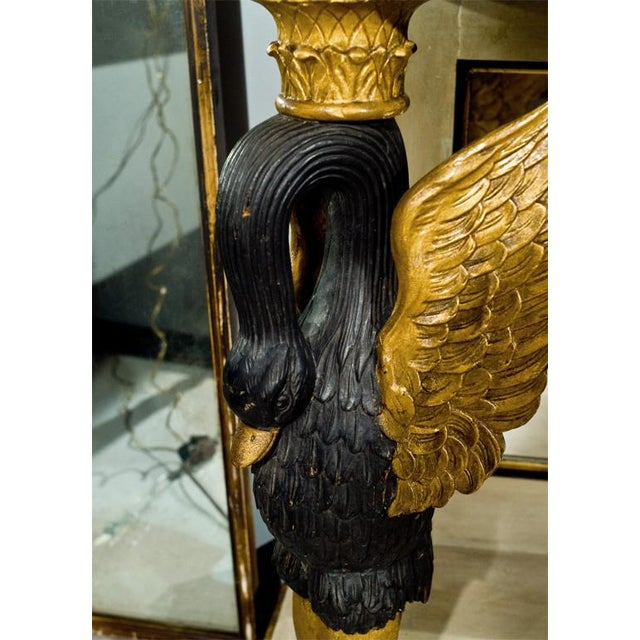 French Marble Top Console With Gilt Carved Swans - Image 7 of 7