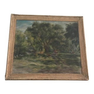 """Landscape Oil Painting by Roswell T. Weidner """"Pine Barrens"""""""