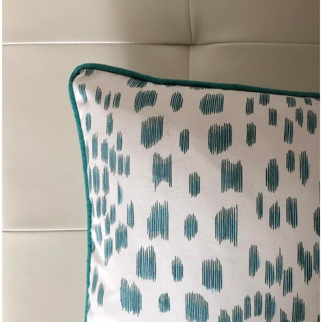 Contemporary Contemporary Brunschwig and Fils Les Touches Animal Print in Aqua Designer Pillow Cover - 12x20 For Sale - Image 3 of 4