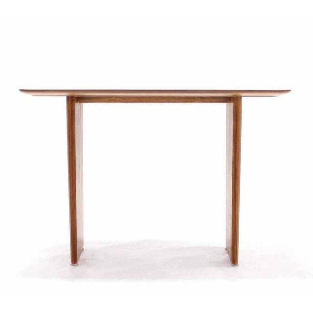 Mid-Century Modern Widdicomb Banded Mid Century Modern Side Table Tapered Walnut Leg For Sale - Image 3 of 7
