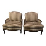 Image of Ethan Allen Bergere Chairs- a Pair For Sale
