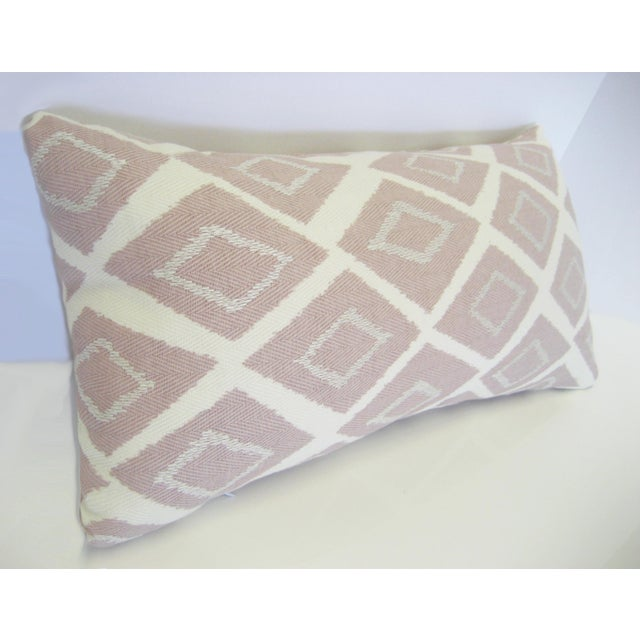 Mid-Century Geometric Pink Lumbar Pillow - Image 3 of 4