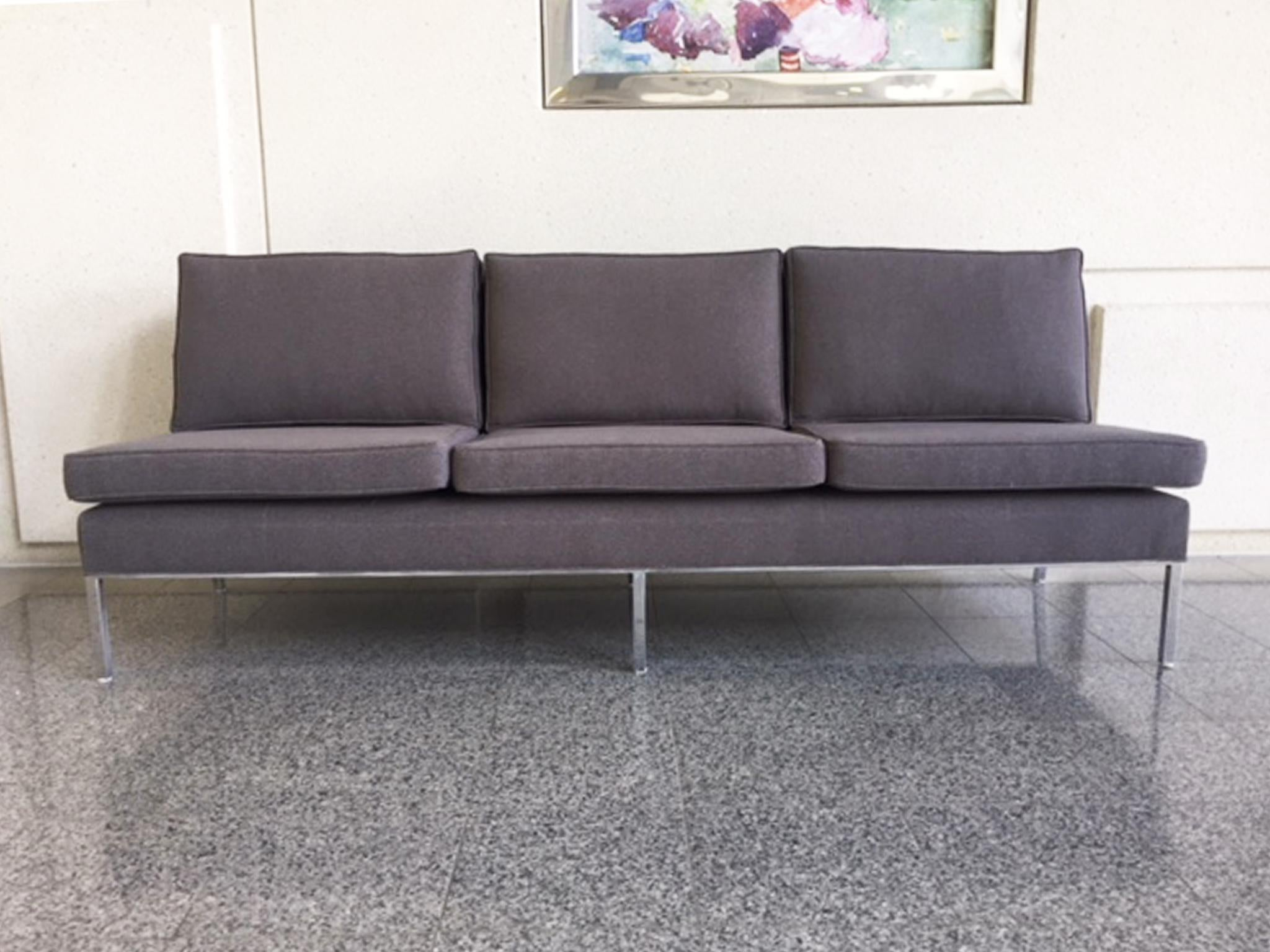 Florence Knoll Mid Century Florence Knoll Armless Sofas   A Pair For Sale    Image