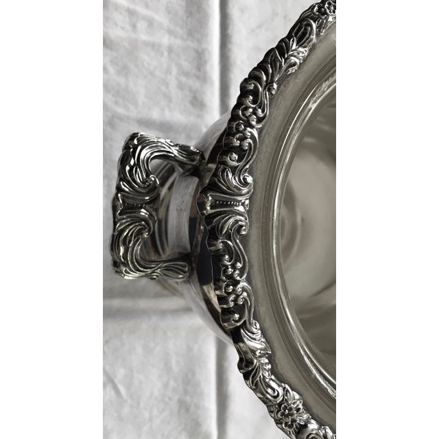 English Vintage Silver Plate Champagne or Wine Cooler For Sale - Image 3 of 7