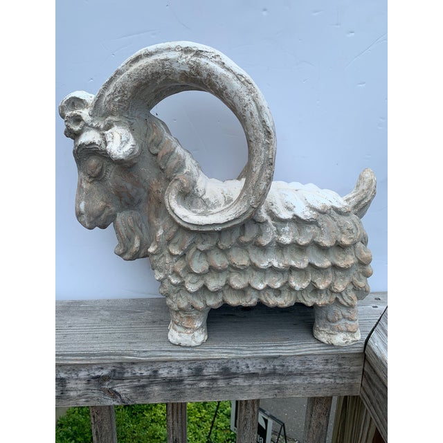 Terracotta Sculpture of Billy Goat Ram For Sale - Image 12 of 13