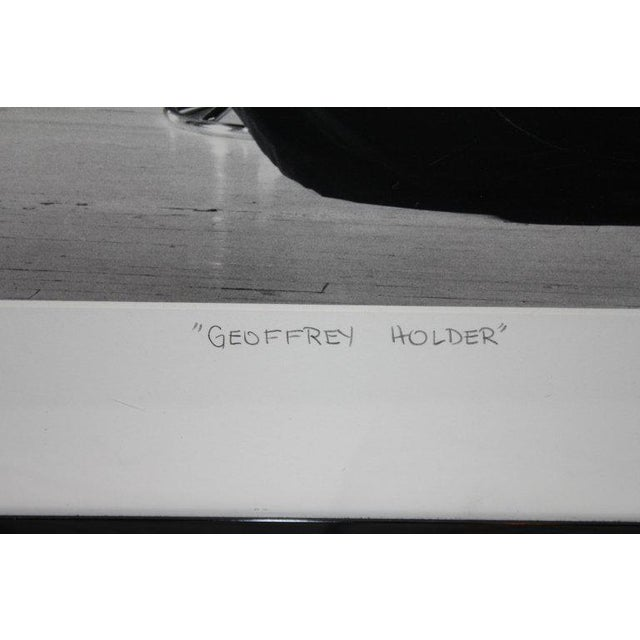 Modern 1987 Geoffrey Holder Photograph by Lance Evans For Sale - Image 3 of 6