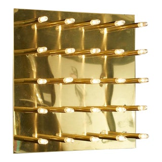25 Light Vintage Brass Wall Sconce by Lightolier For Sale