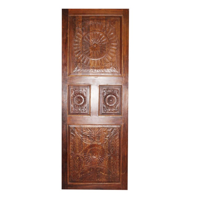 Wood 19th Century Vintage Rustic Wood Door For Sale - Image 7 of 7
