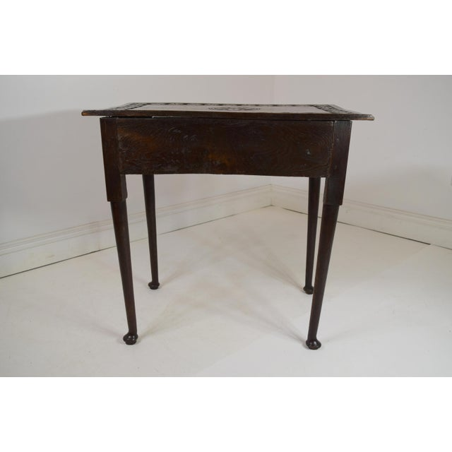 Late 18th Century 18th-Century Georgian Oak Table W/Drawer For Sale - Image 5 of 8