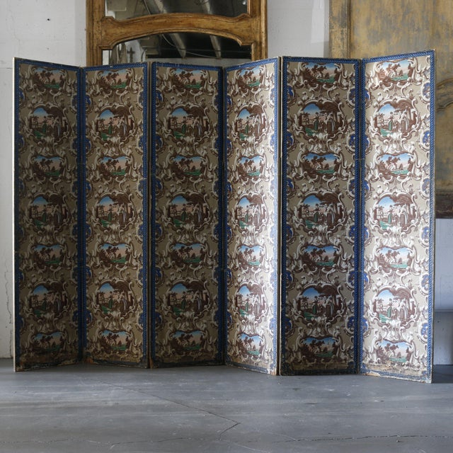 Late 19th Century French Wallpaper Screens - A Pair For Sale In West Palm - Image 6 of 6