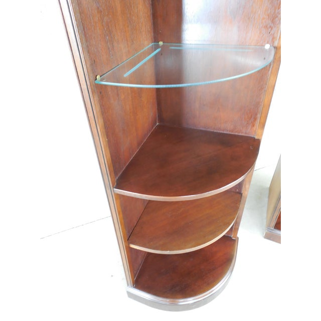 Drexel Chippendale Mahogany Lighted Corner Cabinets - A Pair - Image 9 of 10