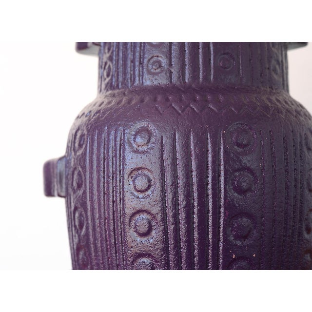Ceramic Mid Century Modern Purple Pottery Table Lamp For Sale - Image 7 of 13