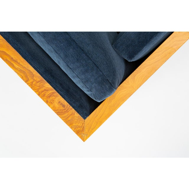 Milo Baughman Burl Wood Case Sofa for Thayer Coggin For Sale - Image 12 of 13
