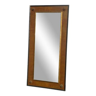 Vintage Traditional Brown & Gold Full Length Wall Mirror For Sale