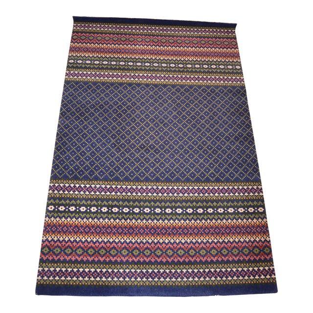 Late 20th Century Vintage Laura Ashley Rug - 4′ × 6′ For Sale