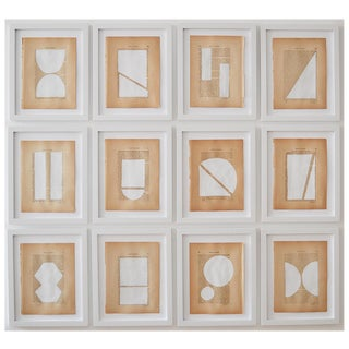 Josh Young Design House - 12 Pièce Blanc Géométrique Collection