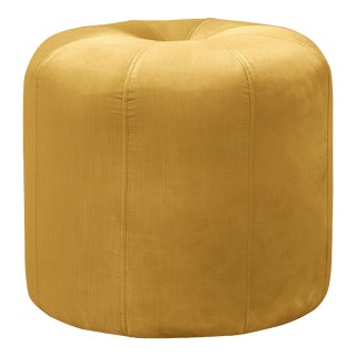 Seamed Ottoman in Monaco Citronella For Sale