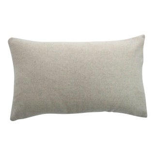 Italian Cream Sustainable Wool Lumbar Pillow For Sale