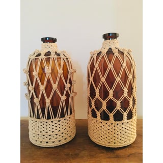 Vintage Amber Apothecary Jars - a Pair Preview