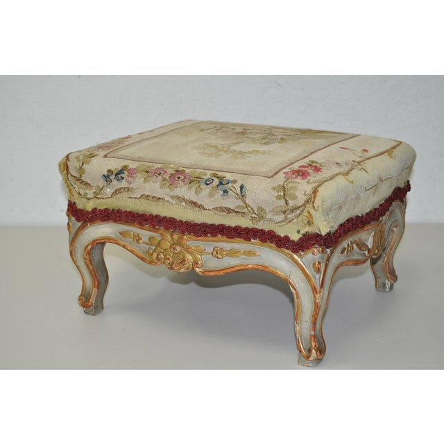 French Rococo Footstool 19th C. - Image 4 of 7