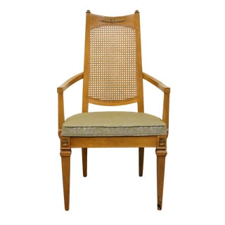 Drexel San Remo Collection Cane Back Dining Arm Chair For Sale