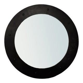 Large Clay Mirror in Black by Noir For Sale