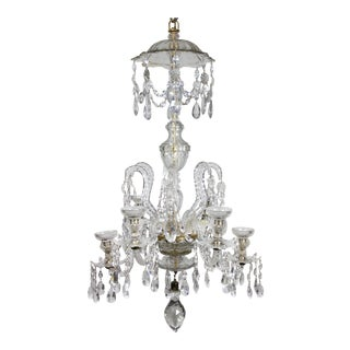 Anglo Irish Cut Glass Chandelier For Sale
