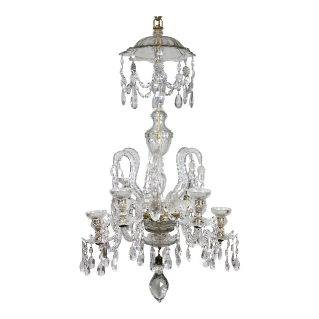 Sophisticated anglo irish cut glass chandelier decaso anglo irish cut glass chandelier image 1 of 9 mozeypictures Images