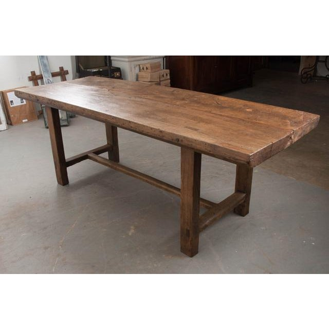19th Century French 19th Century Oak Farmhouse Trestle Table For Sale - Image 5 of 11