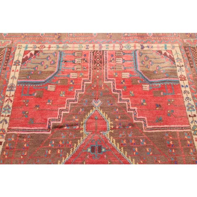 Boho Chic Persian Geometric Nahavand Hamedan Rug - 4′11″ × 8′8″ For Sale - Image 3 of 5