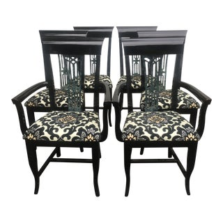 Mid-Century Modern Italian Lacquered Chairs - Set of 6 For Sale
