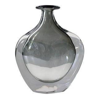 Orrefors Sweden Dusk Vase Nils Landberg Sommerso Glass Mid Century