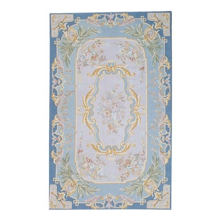 "Pasargad French Aubusson Hand-Woven Wool Rug- 5' 0"" X 8' 0"" For Sale"