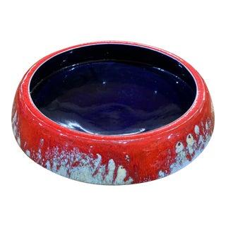 Mid-Century Modern Red Glazed Lava Ceramic 751 Pottery For Sale