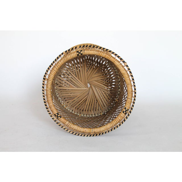 Boho Chic Boho Style Wicker Plant Stand For Sale - Image 3 of 5