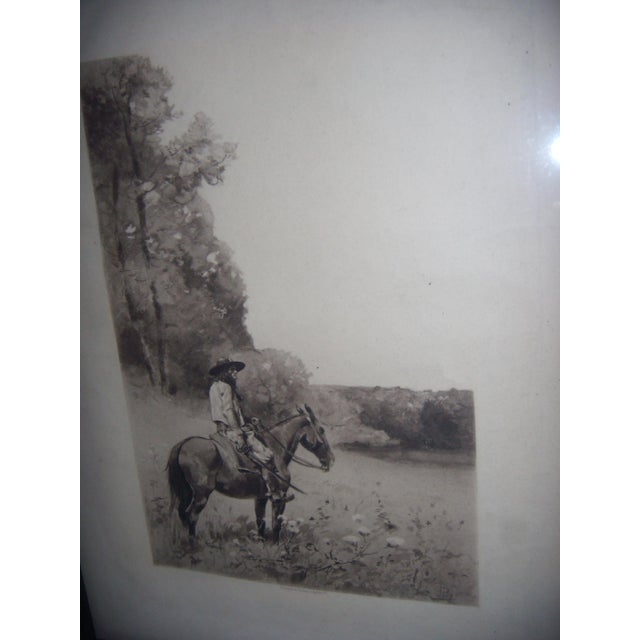 19th-C. Engraving of Man on Horse - Image 6 of 6