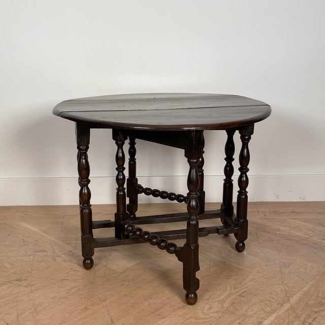 Vintage English Drop Leaf Table For Sale - Image 4 of 7