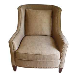 Harden Furniture Brown Lounge Chair For Sale