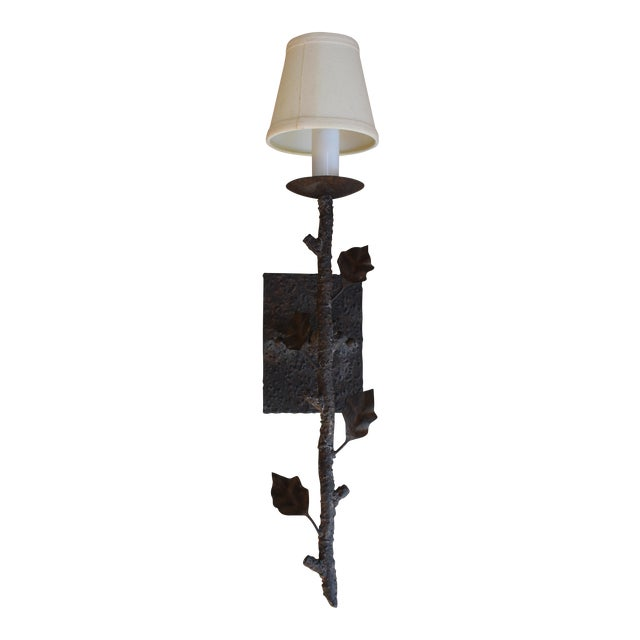 Tree Branch Single Light Wall Fixture with Shade - Image 1 of 3
