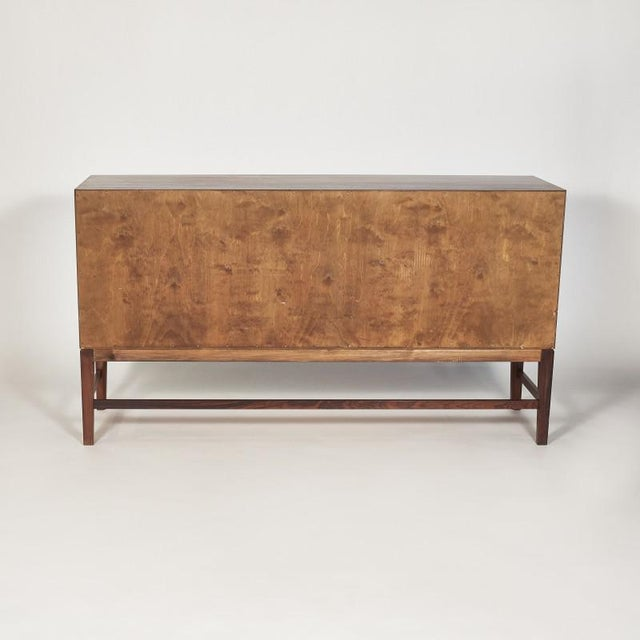 Rosewood Danish Ole Wanscher Tambour Cabinet, 1960s For Sale - Image 7 of 8
