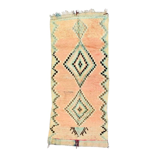 1970s Vintage Moroccan Beni Ourian Rug-3′12″ × 8′6″ For Sale