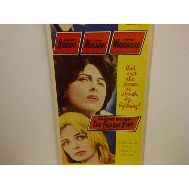 """Vintage """"The Fugitive Kind"""" 1960 Movie Poster For Sale - Image 4 of 6"""