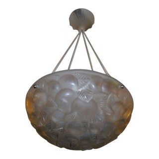"R. Lalique ""Lausanne"" Chandelier For Sale"