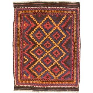 Vintage Afghan Ghalmouri Maimana Kilim Rug - 07'02 X 09'04 For Sale